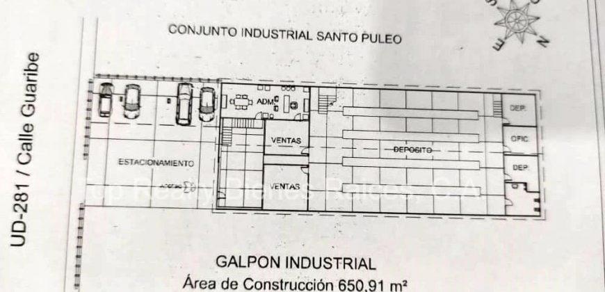 Venta de Galpón Industrial Unare II