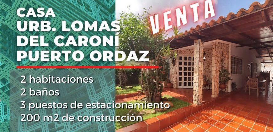 Venta de casa en Lomas del Caroní, Puerto Ordaz